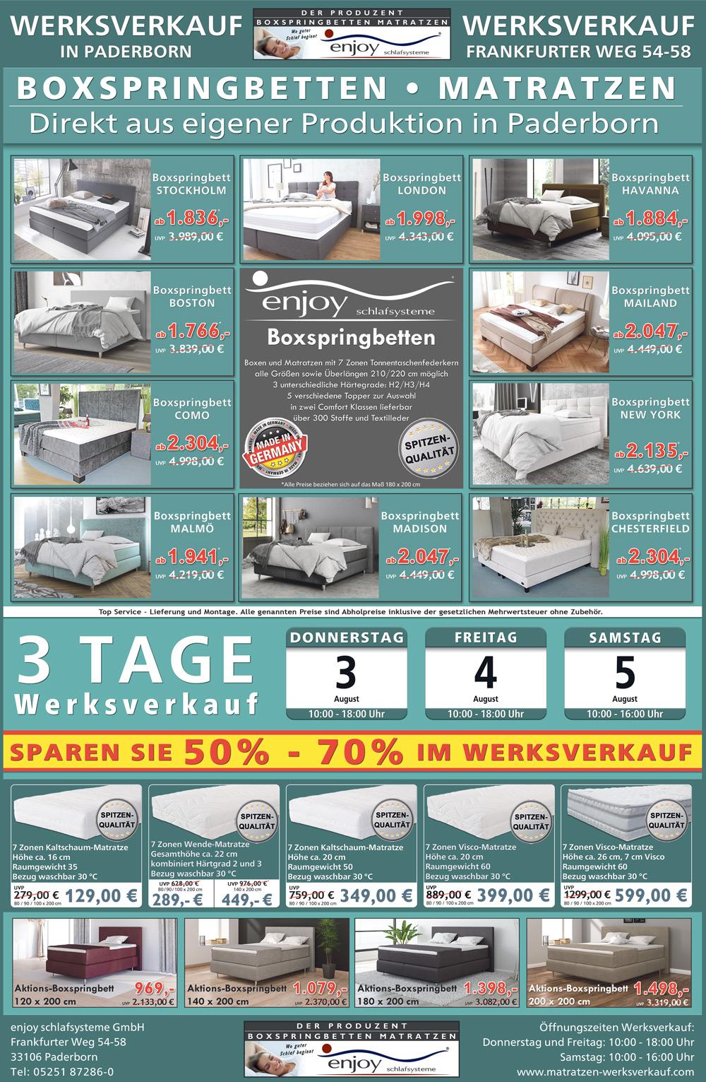 werksverkauf matratzen direkt vom hersteller matratzen direkt vom hersteller und produzenten. Black Bedroom Furniture Sets. Home Design Ideas